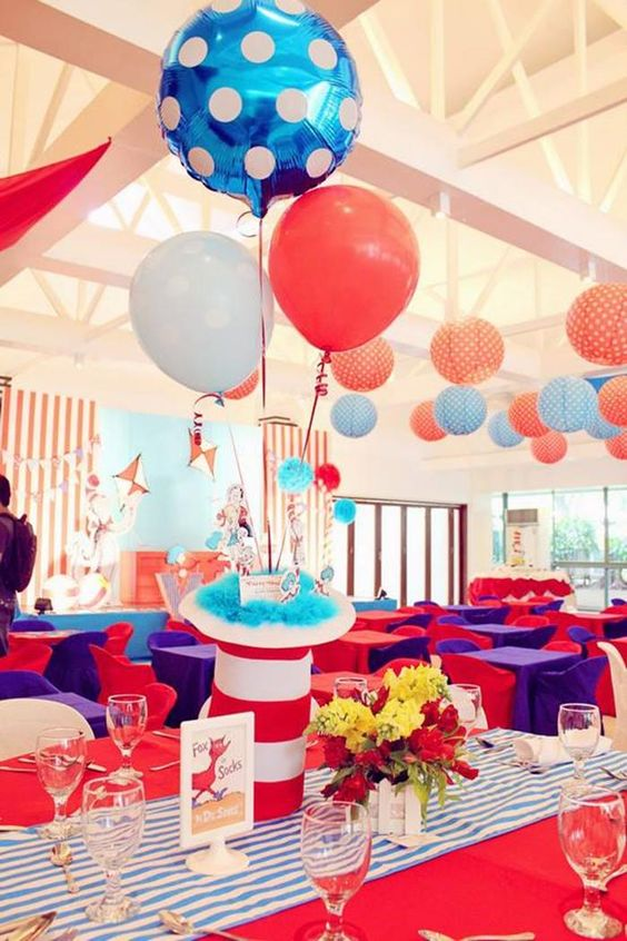 Cat in the Hat Party Centerpiece