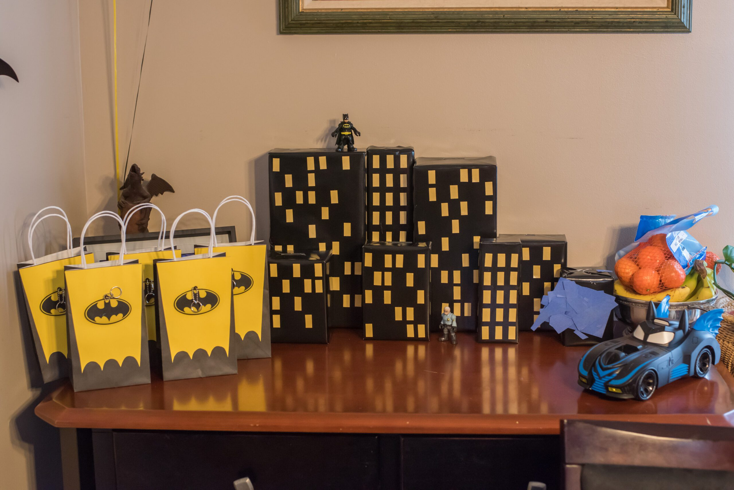 Batman Party Decoration and Goody Bags
